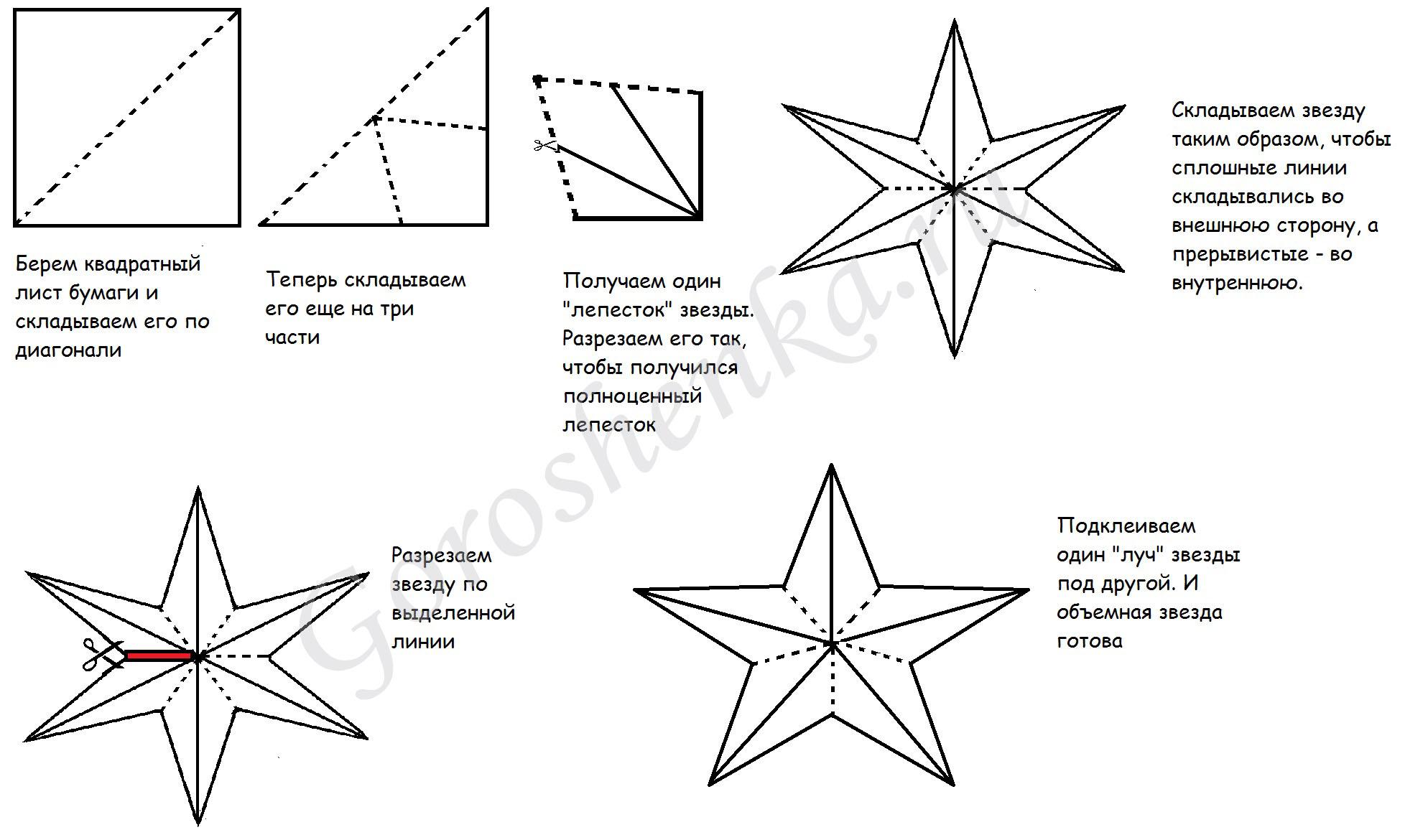 Как сделать звезду для открытки к 9 мая